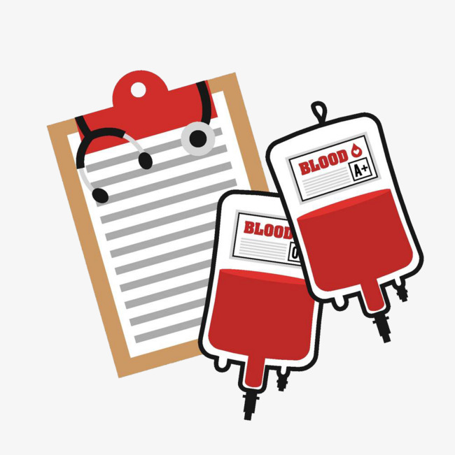 Donation registration illustration file. Bag clipart blood