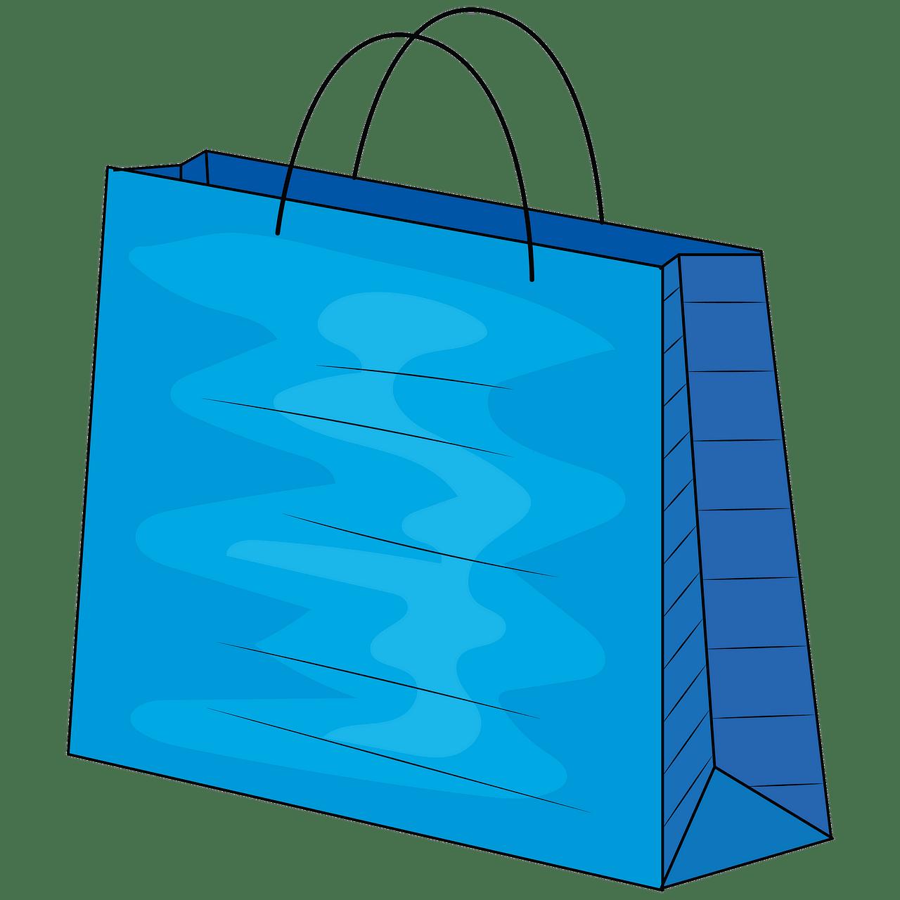 Shopping free download creazilla. Bag clipart blue bag