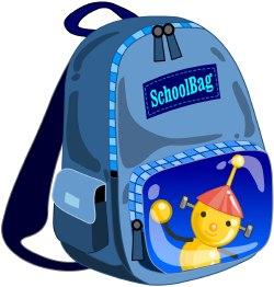 Bookbag panda free images. Bag clipart blue bag