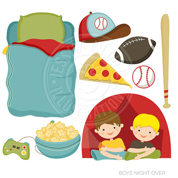 Bag clipart boy clipart. Boys night over cute