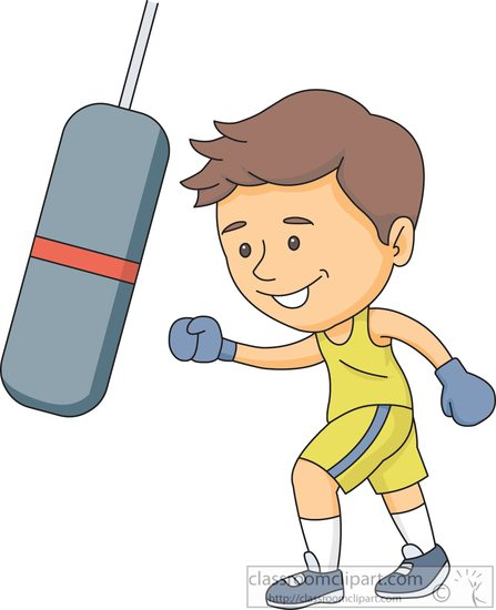 Boxing punching a punchingaboxingbagclipartjpg. Bag clipart boy clipart