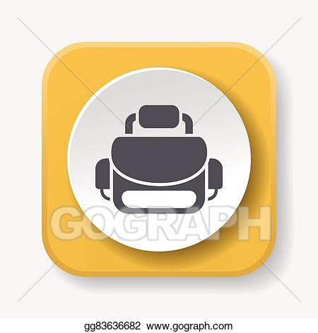 Bag clipart camera bag. Vector icon illustration gg