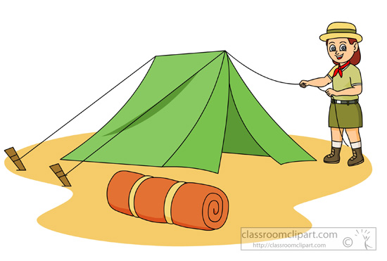 Bag clipart camp. Tent black and white