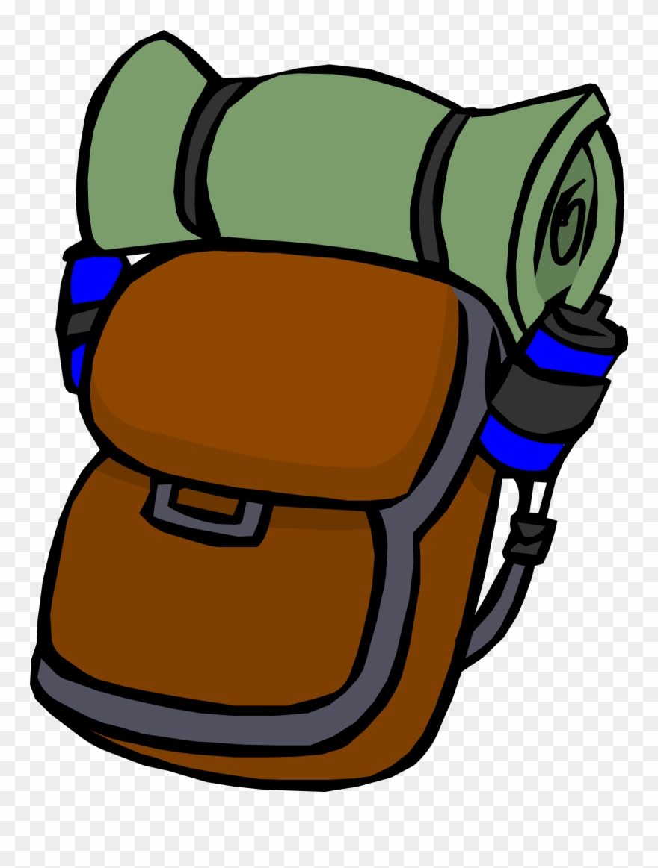 Backpack club penguin png. Camp clipart bag