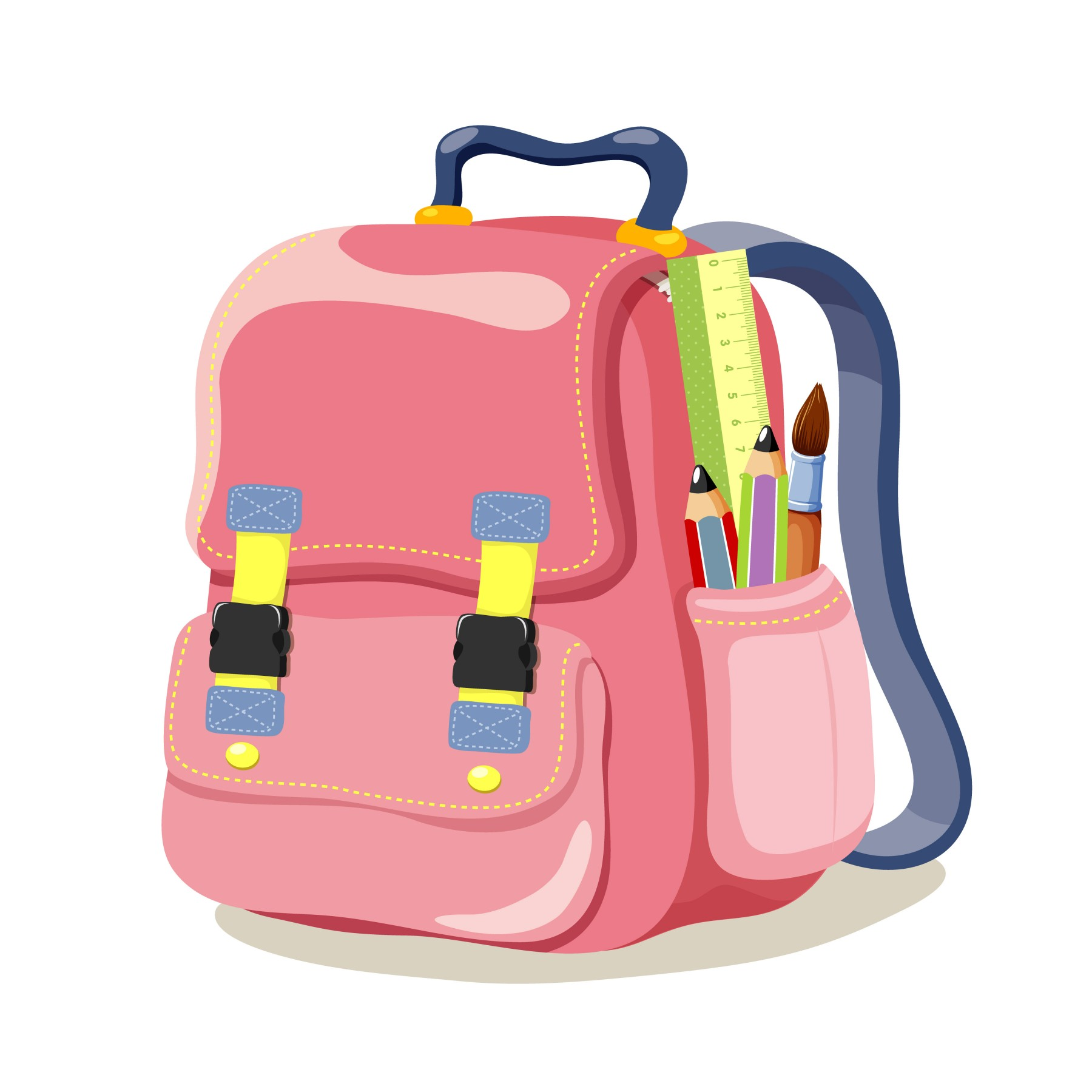 Bag clipart cartoon.  school bags library