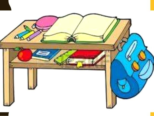 Objects table seating of. Bag clipart classroom