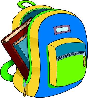 Bag clipart classroom. Book bagss