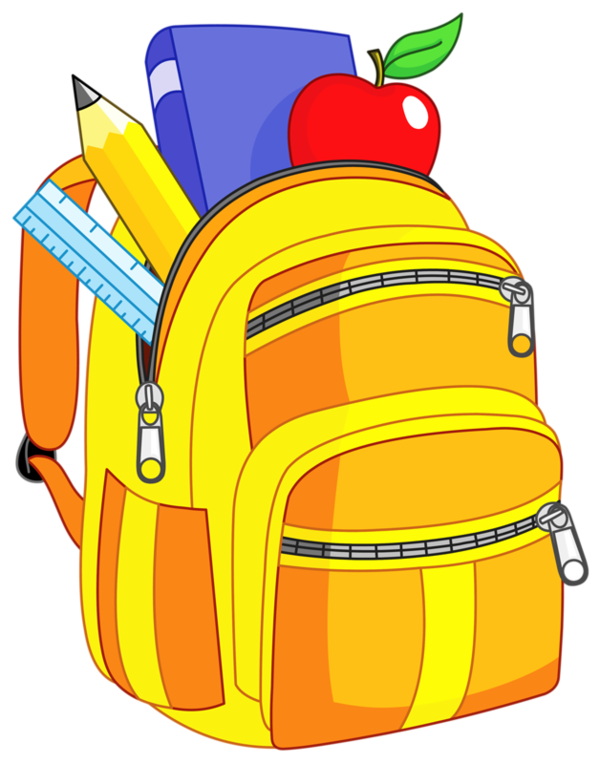 Crayons de couleurs articles. Clipart backpack school tool
