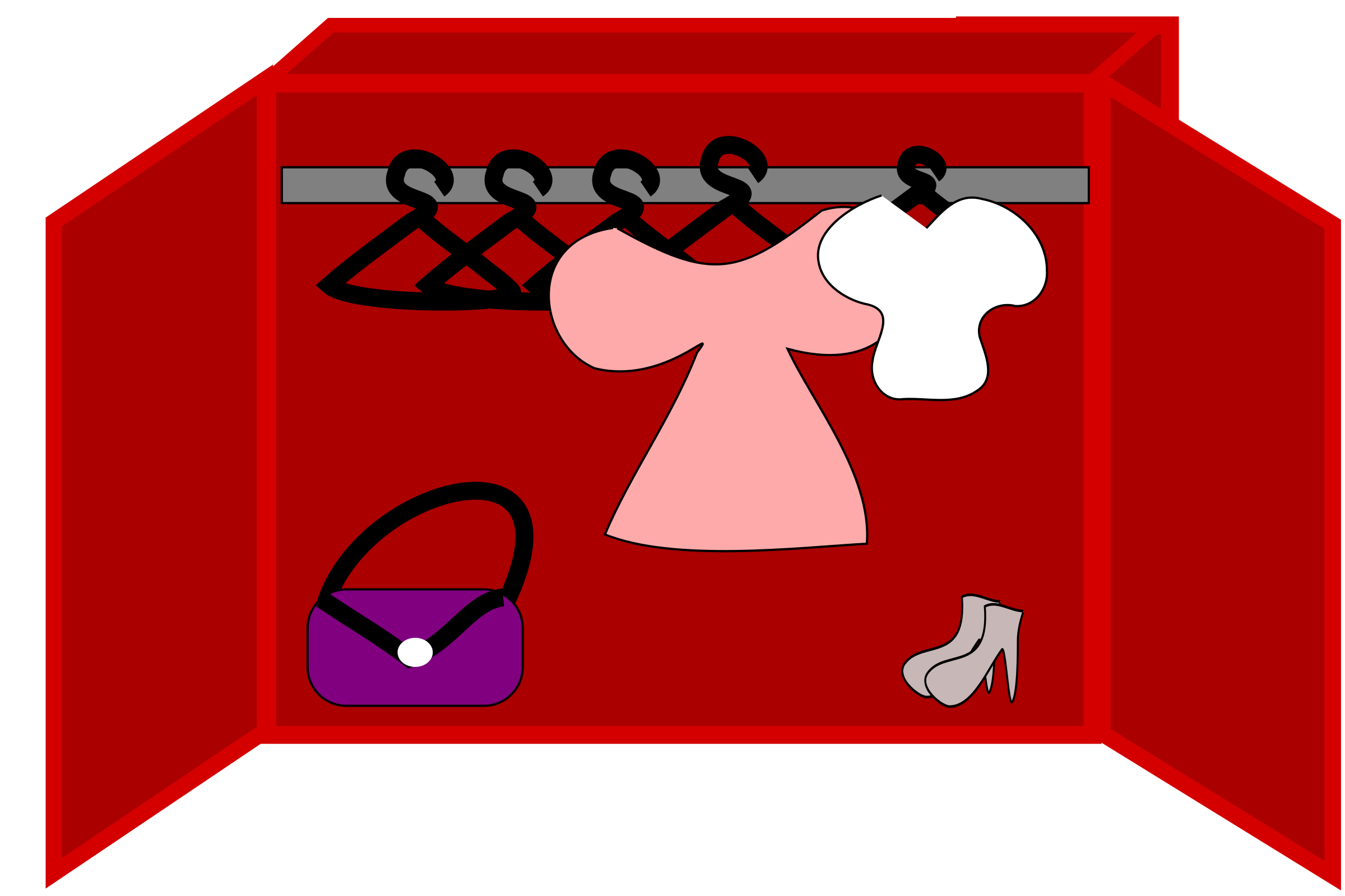 Shoes and a bag. Clothing clipart closet full clothes