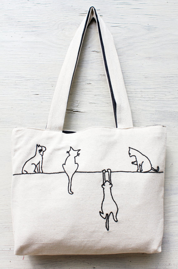 Bag clipart cloth bag. Alley cats tote shoulder