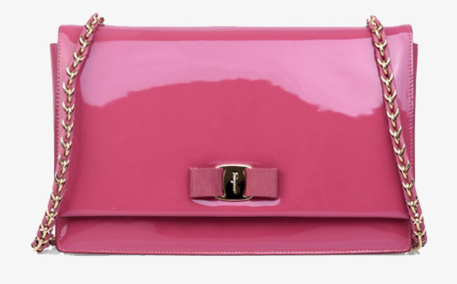 Ferragamo pink patent leather. Bag clipart coat