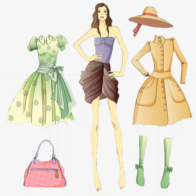 Bag clipart coat. Female dress hat overcoat