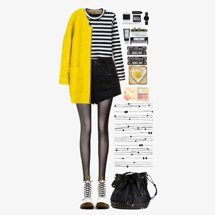 Bag clipart coat. Yellow studs with fig
