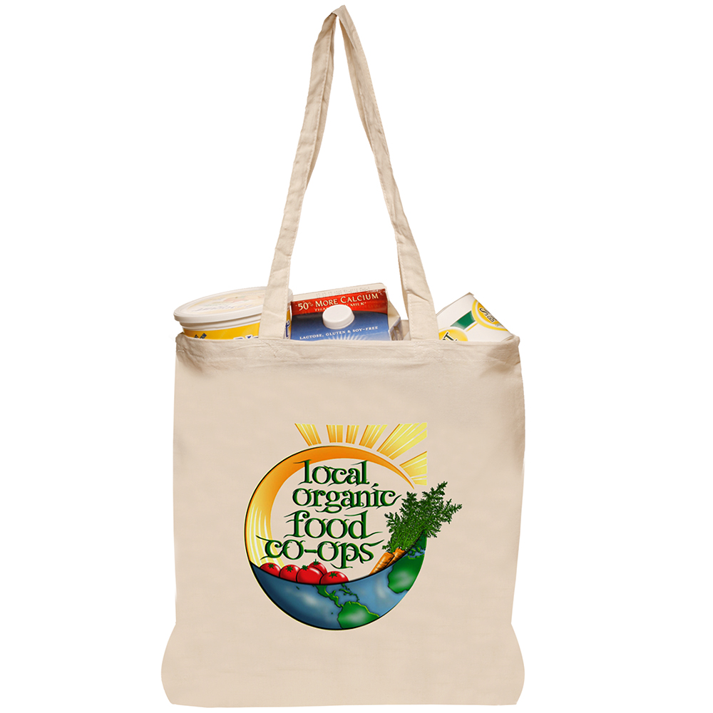 Personalized Natural Cotton Fiber Tote Bags