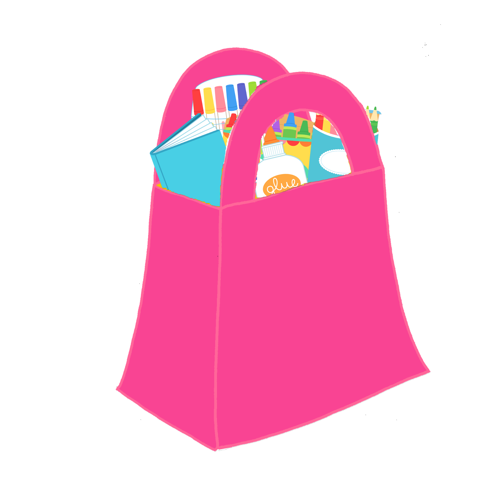 Luggage clipart cute. Shopping bag clip art
