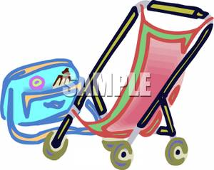 Bag clipart diaper bag. Stoller and picture a