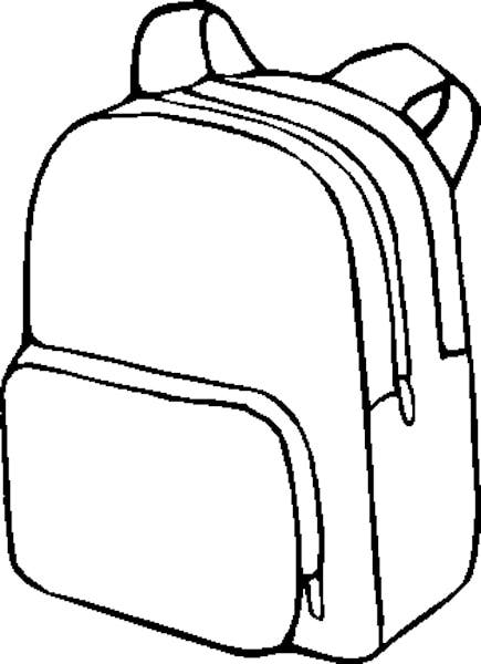 Briefcase clipart outline. Backpack drawing at getdrawings