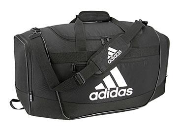 Adidas black and white. Bag clipart duffel bag