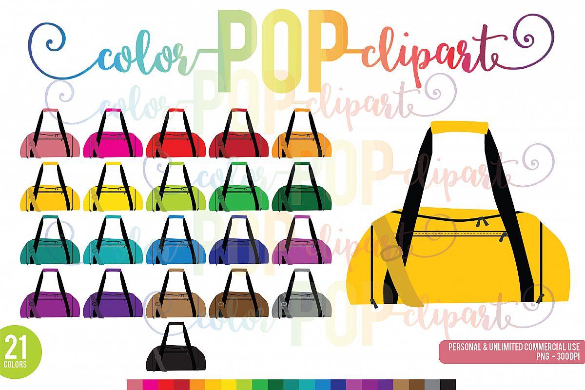 Bag clipart duffel bag. Rainbow gym fi design