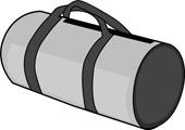 Duffle . Bag clipart duffel bag