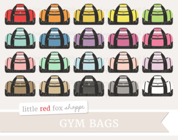 Gym fitness work out. Bag clipart duffel bag
