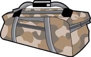 Search results for clip. Bag clipart duffel bag