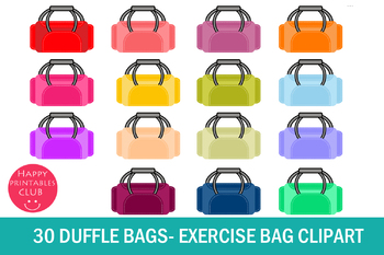bags exercise gym. Bag clipart duffle bag