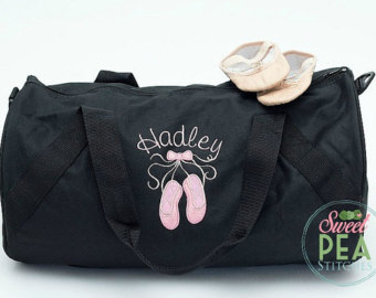 Sleepover etsy dance duffel. Bag clipart duffle bag