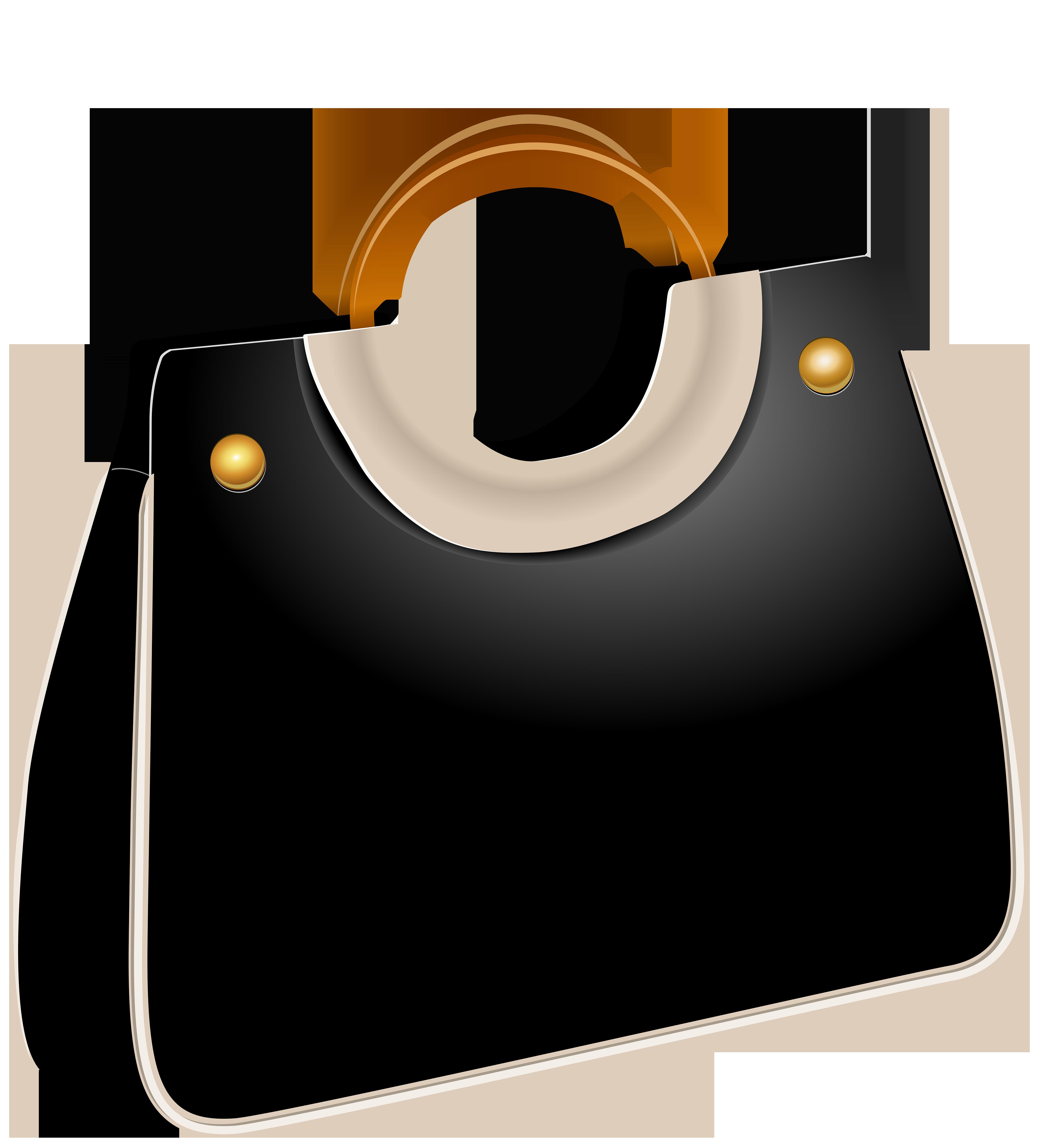 Bag clipart file. Handbag black png clip