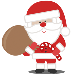 Santa with svg scrapbook. Bag clipart file