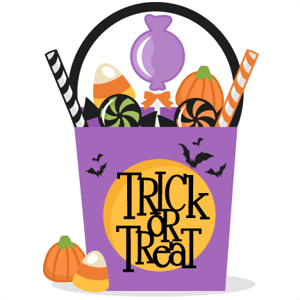 Trick or treat clip. Bag clipart file