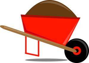 Free wheelbarrow image a. Bag clipart garden