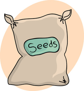 Free seeds image stock. Bag clipart garden