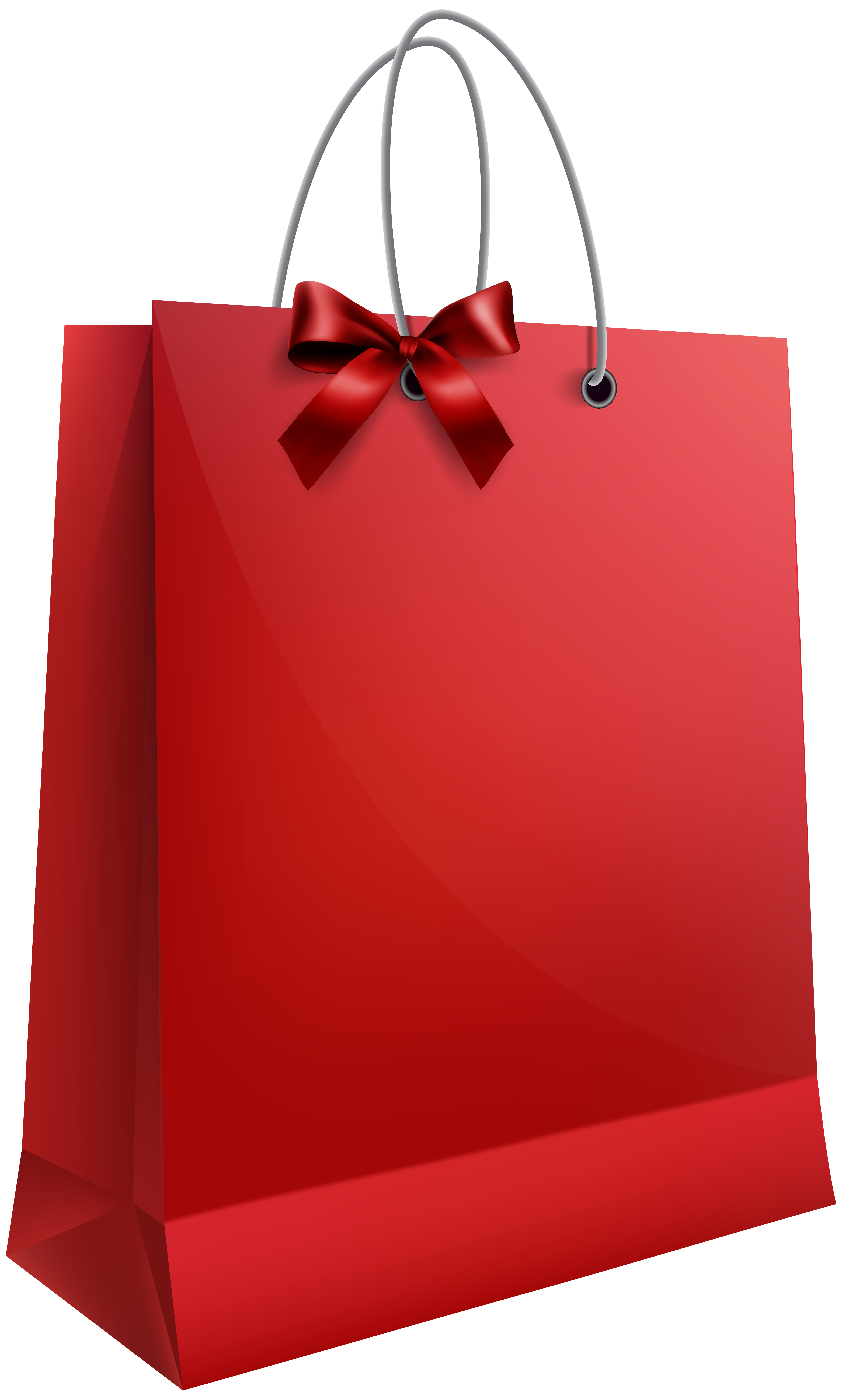 Bag clipart gift. Red with bow png