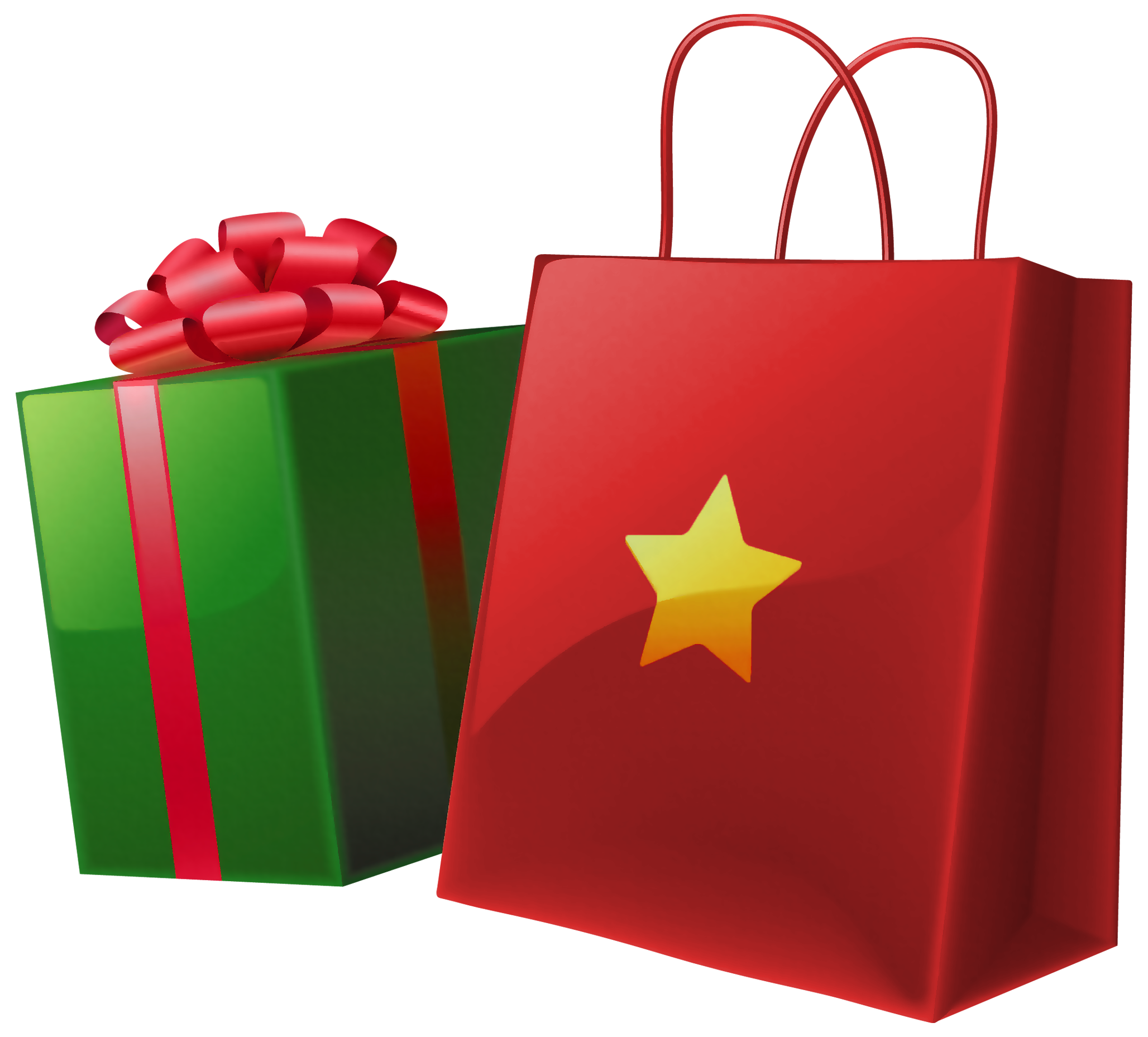 Bag clipart gift. Christmas