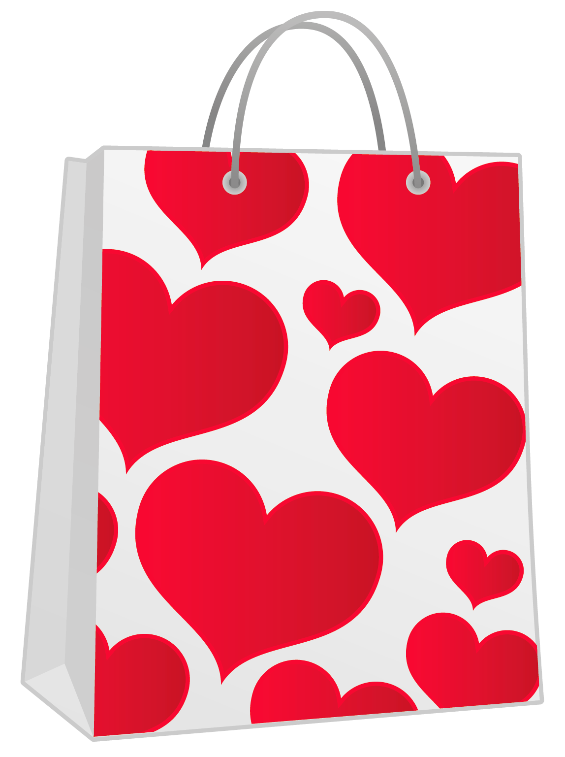 Valentine gift bag with. Luggage clipart red