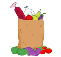 Free clip art pictures. Bag clipart grocery