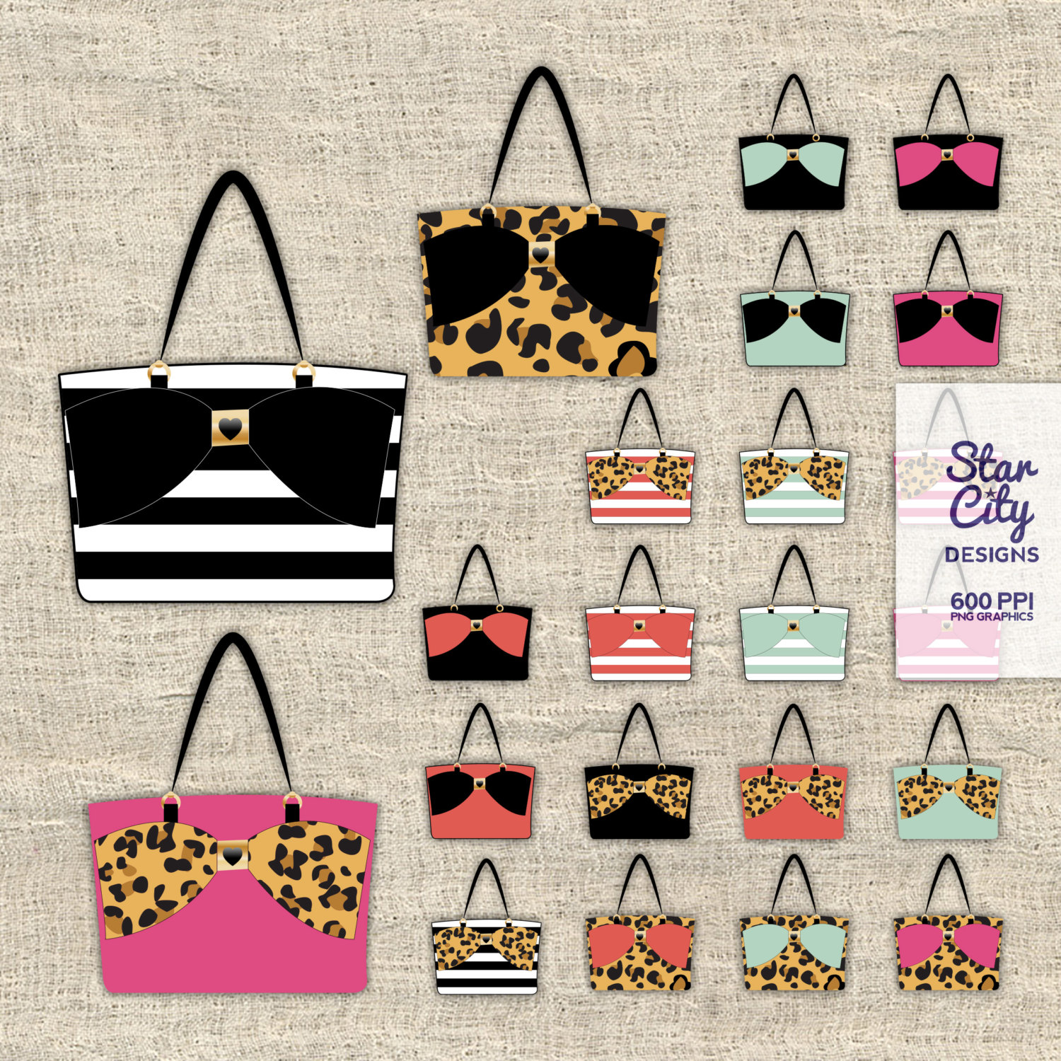 Bag clipart handbag. Tote purse bow