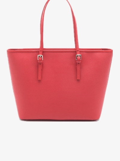 Red fashion big female. Bag clipart handbag