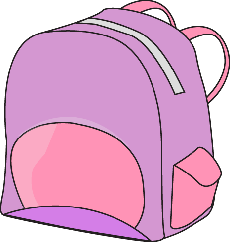 Bag clipart haversack. Purple backpack cliparts zone