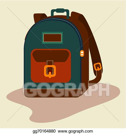 Bag clipart haversack. Eps illustration design vector