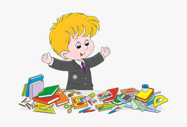 Bag clipart homework. Cartoon boy with school
