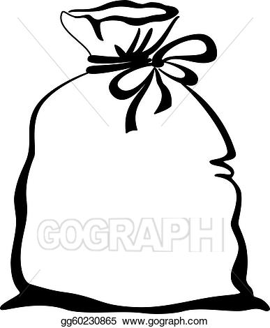 Bag clipart illustration. Eps vector empty pictogram