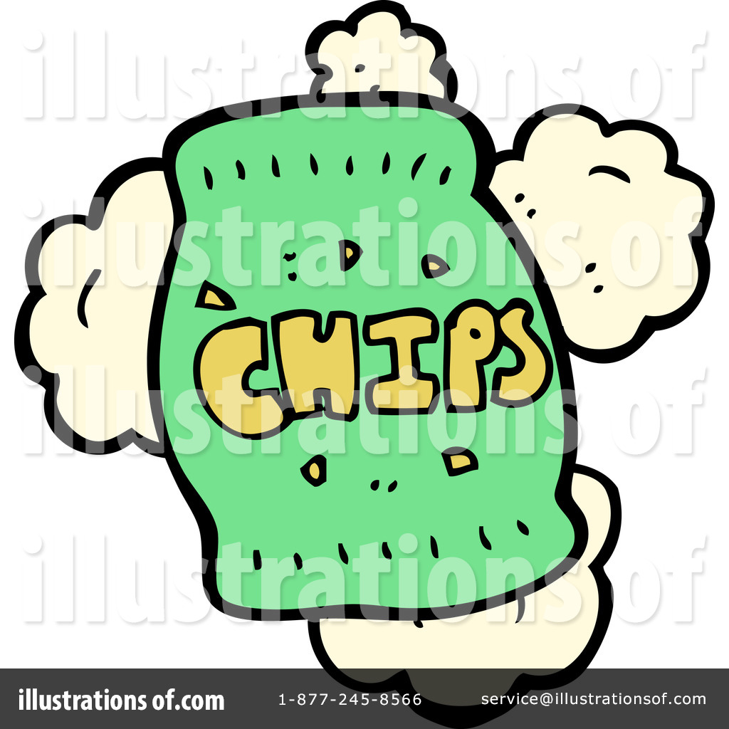 Of chips by lineartestpilot. Bag clipart illustration