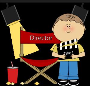 Movie director clip art. Bag clipart kid clipart