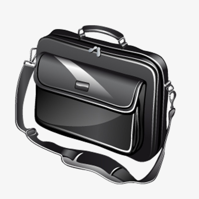 Black computer renderings product. Bag clipart laptop bag