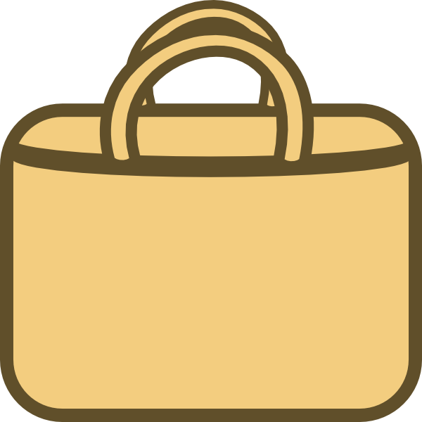 Brown shopping clip art. Bag clipart laptop bag