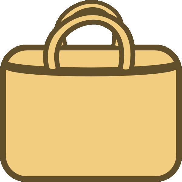 Brown Shopping Bag Clip Art at Clker