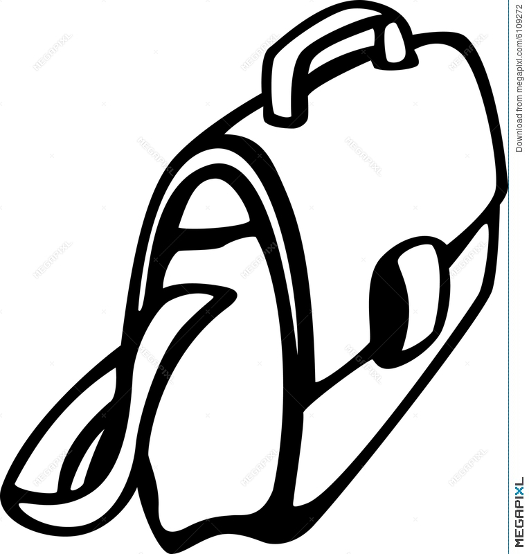 Case or vector illustration. Bag clipart laptop bag