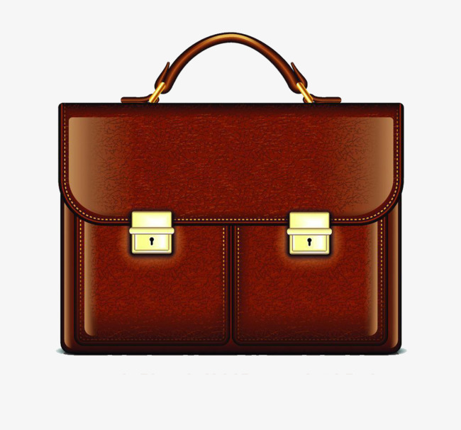 Business design bags handbag. Bag clipart leather bag